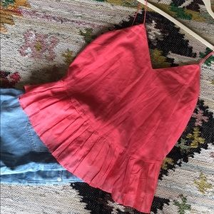 Coral pink J. crew camisole